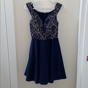 Navy Blue Homecoming or Prom dress size 5